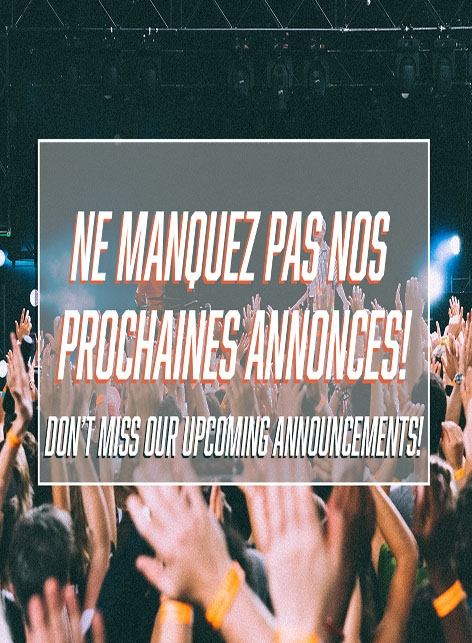 Ne manquez pas nos prochaines annonces!